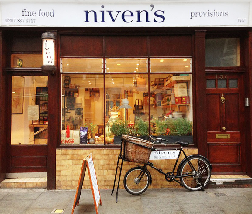 Niven's Fine Food Shop Front Kings Cross London