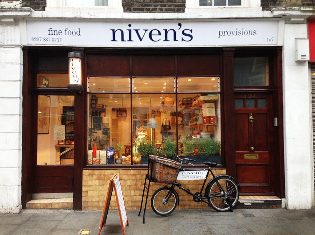 Niven's fine food shop front