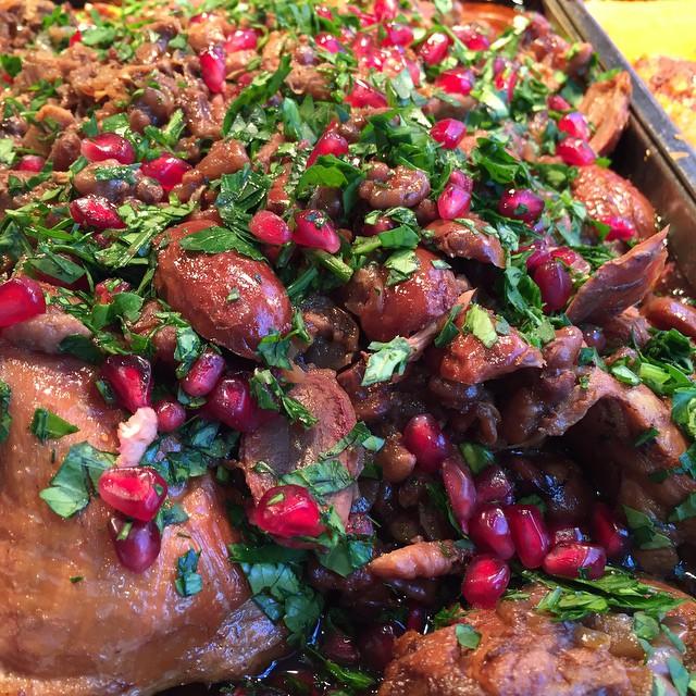 Chicken Walnut Date Pomegranate
