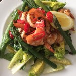 Summer-Suppers-kingprawn-asparagus-wildgarlic-babygem-summer-supper-nivens-nivensfood-london-instafo
